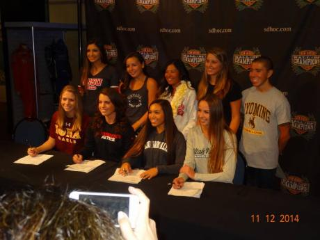 Letter of Intent Signing day at Hall of Champions!
